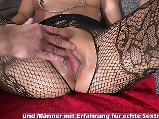 casting, amateur, german, skinny, small tits, swallow cum