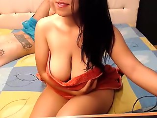 chaturbate, big tits, couple, straight, webcam,