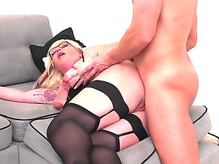 blowjob, anal, mature, stockings, milf, old & young