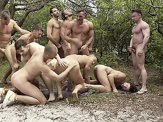 blowjob (gay), bareback (gay), gangbang (gay), group sex (gay), hunk (gay), muscle (gay)